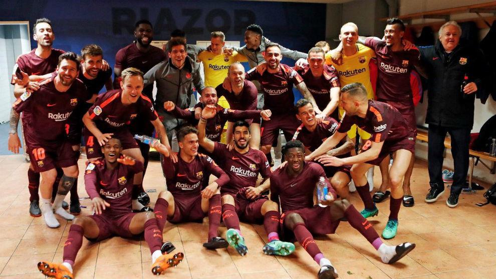 El F.C. Barcelona Campeón de Liga española 2017-2018