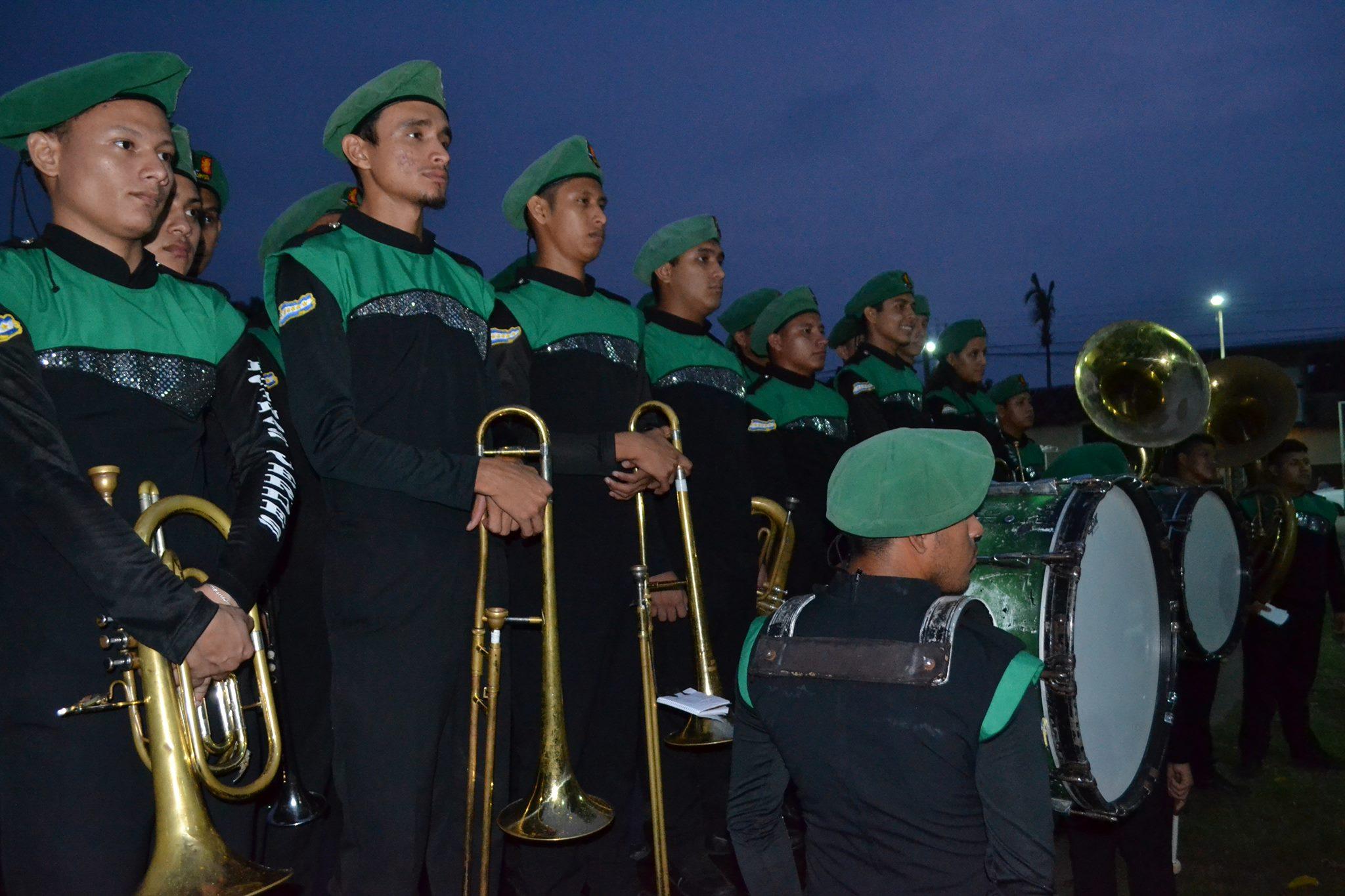 Banda musical de El Salvador en Italia.