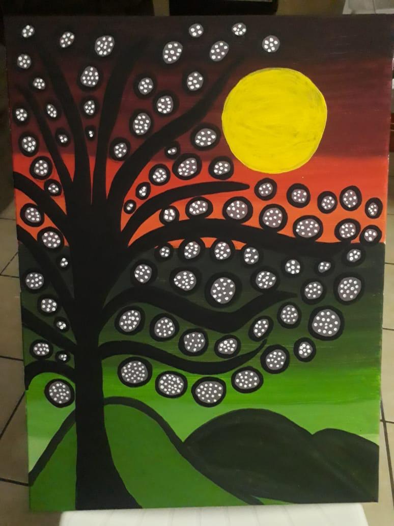 """CUENTO INFANTIL: """"El lienzo que quería ser un abstracto atardecer""""."""