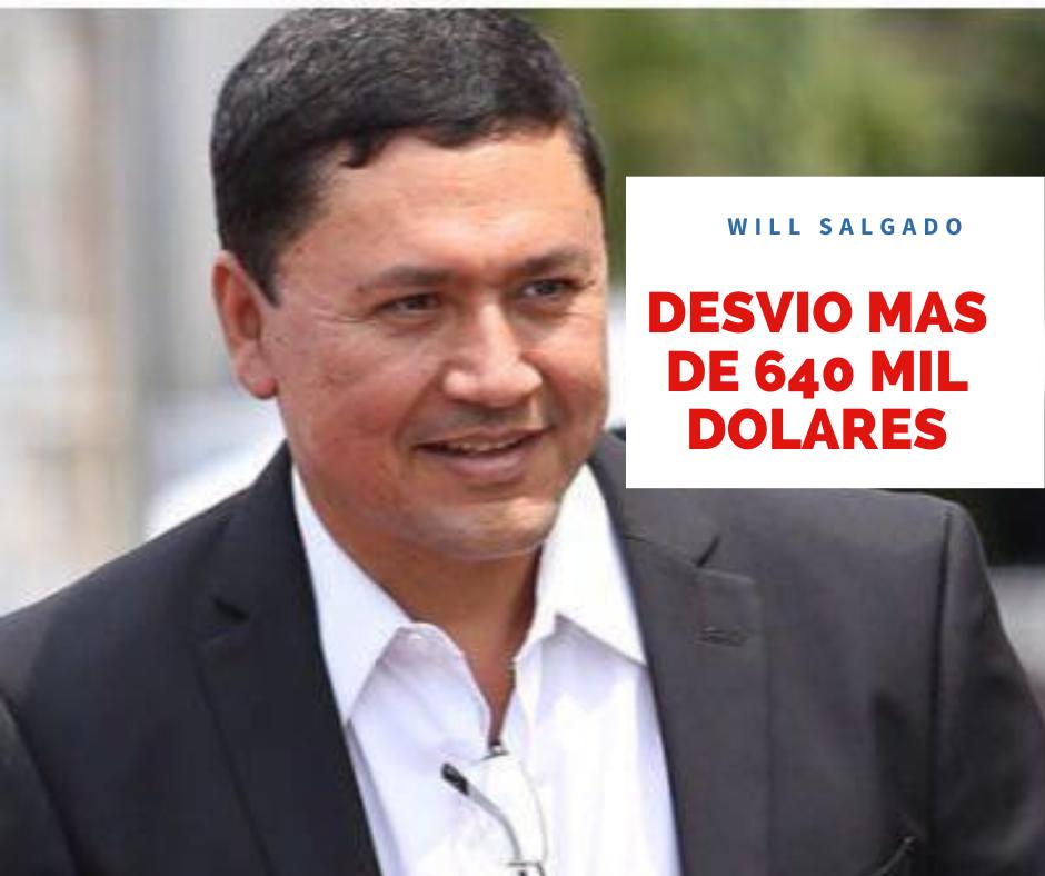 Will Salgado desvió más de 640 mil dólares siendo Alcalde de San Miguel