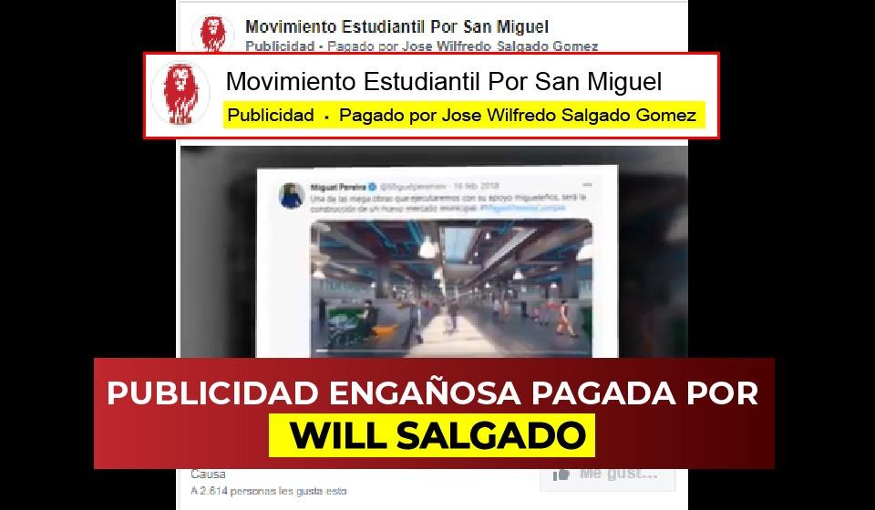 *Will Salgado paga por campaña sucia en redes sociales*