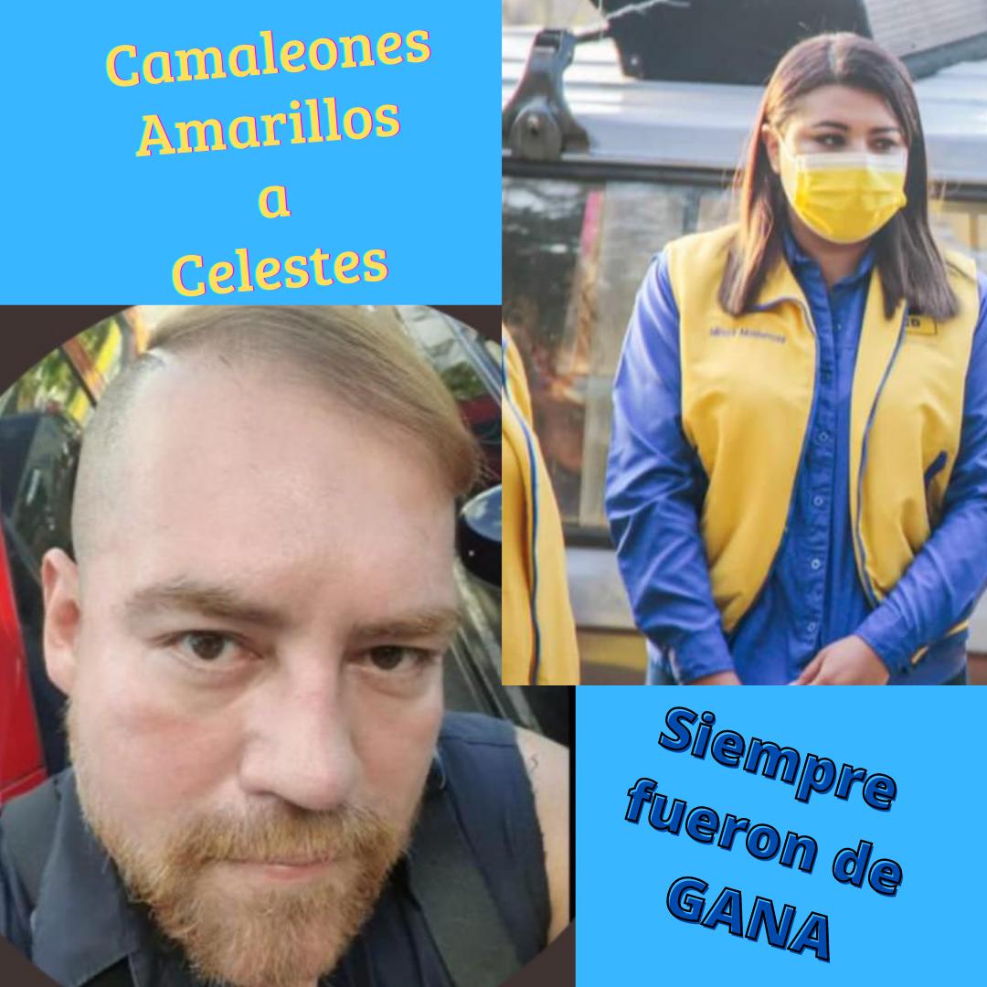 Por la Plata bailan los Amarillos, Mireya Aguillón y Aldo Álvarez