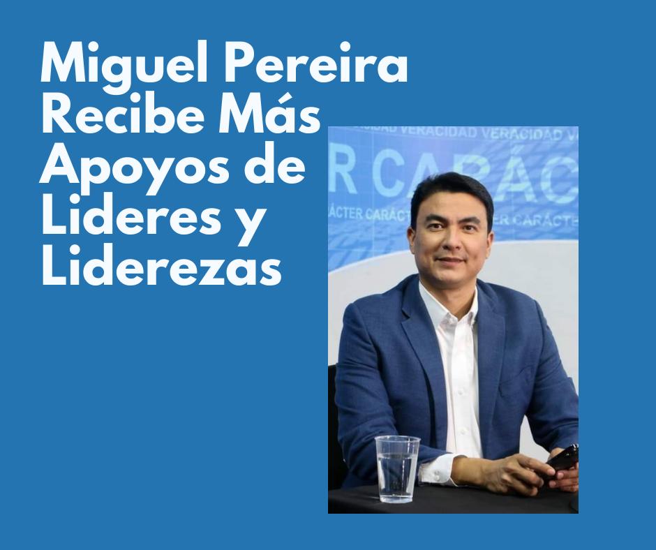Bases de Nuevas Ideas San Miguel, respaldaron a Miguel Pereira como próximo alcalde de San Miguel.