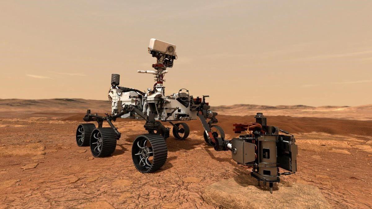 Rover Perseverance aterriza con exito en Marte