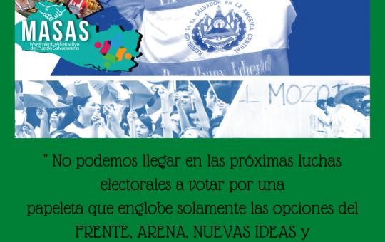 Coordinadora Nacional de Movimientos Sociales y Sociedad Civil en Resistencia CONAR, propuesta de MASAS