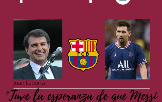Laporta habla del Barcelona , Messi y Neymar